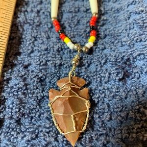 Oglala Lakota arrowhead necklace